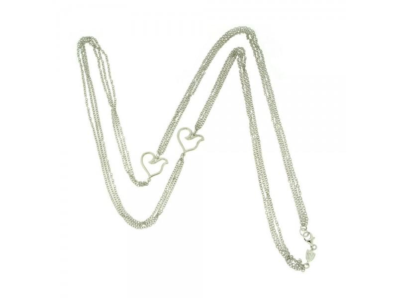 Collana tripla Chantecler con galletti in argento
