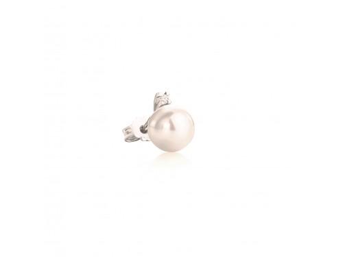 Le Lune Orecchini monachella con perle e diamanti Coscia Gioielli