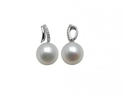 Le Lune Pendente con perle e diamanti Coscia Gioielli