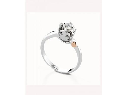 Anello Solitario Le Bebé gioielli femminuccia con diamante ct 0.10