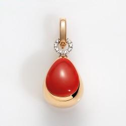 Anello Chantecler Campanella in oro rosa e bianco con diamanti