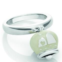 Bracciale Coscia 2 file di perle con chiusura in argento dorato Le Lune Glamur