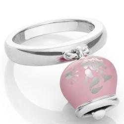 Bracciale Coscia 2 file di perle con chiusura in argento rosa Le Lune Glamur