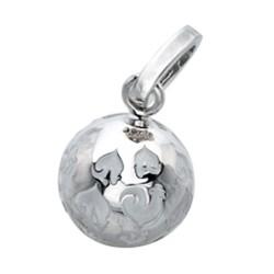 Orecchini pendenti in argento rosa con perle ed ematite grigia Coscia Le Lune Glamur