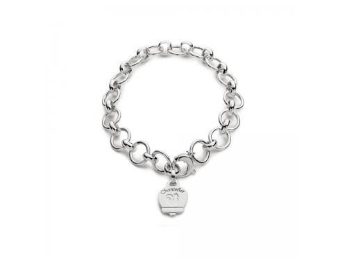 Bracciale Chantecler multicharms in argento lucido con campanella