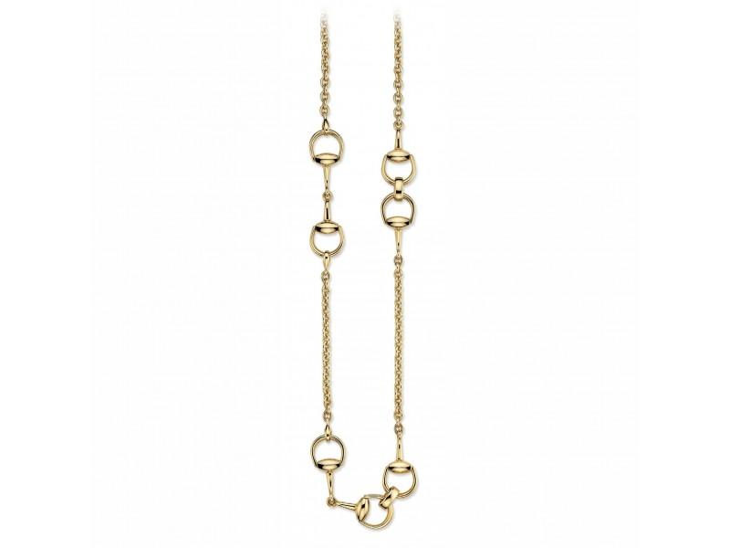 design di qualità 45731 bf063 Collana Gucci Horsebit in oro giallo con morsetto