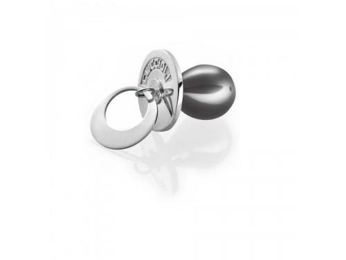 I Ciuccioli Gioielli ciondolo pendente Ciuccio in argento 925 nero con collana