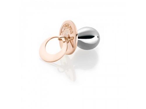 I Ciuccioli Gioielli ciondolo pendente Ciuccio in argento ed argento rosa 925 con collana
