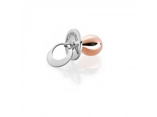I Ciuccioli Gioielli ciondolo pendente ciuccio in argento con argento pvd rosa con collana da 55 cm