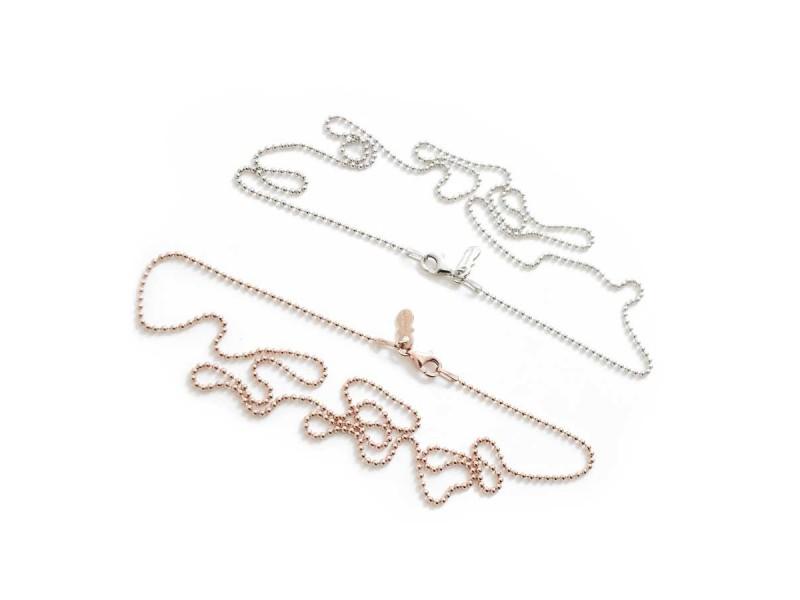 I Ciuccioli Gioielli ciondolo pendente ciuccio piccolo in argento 925 zirconi e collana da 55 cm