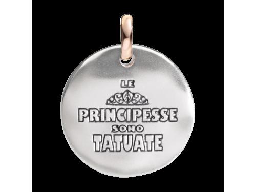 Ciondolo Queriot moneta di Civita in argento Le Principesse sono tatuate