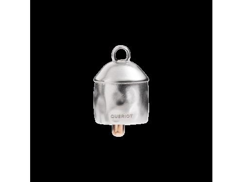 Charms Queriot Campanella Indiana in argento e bronzo