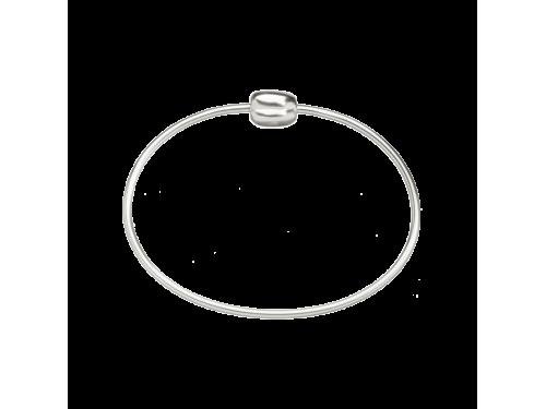 Bracciale rigido in argento Queriot con chisura chicco di caffè