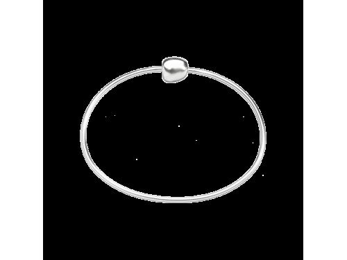 Bracciale rigido in argento Queriot con chisura sasso