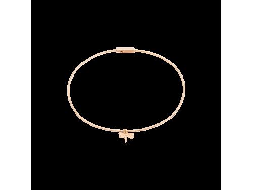 Bracciale rigido Queriot Ma Liberté in oro rosa con ciondolo farfalla