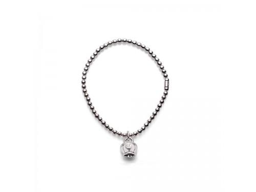 Bracciale in argento Chantecler Et Voilà con ciondolo campanella micro in argento lucido