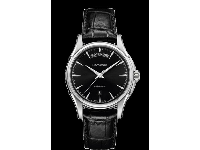 Hamilton orologio uomo Jazzmaster Day Date Auto in pelle