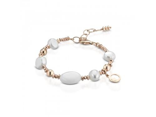 Bracciale in ematite,perle,agata sintetica e argento Coscia Le Lune Glamour