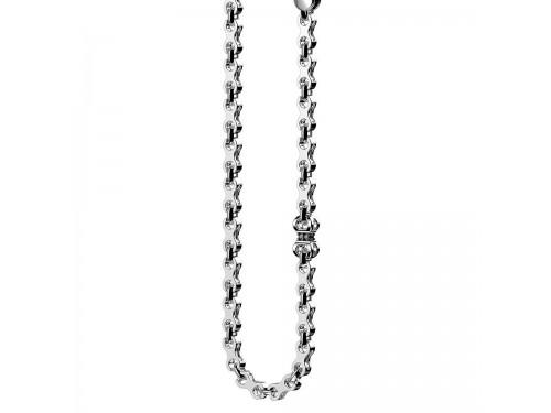Collana da uomo Zancan Insigna in argento e spinelli neri