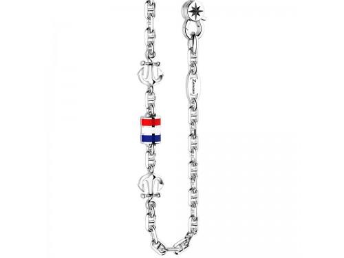 Collana da uomo Zancan Regata in argento con ancore in argento e bandiera smaltata