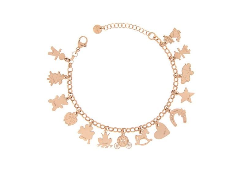 nuovo di zecca a7e81 277e6 Bracciale Multi Charms Rue Des Mille in argento rosa