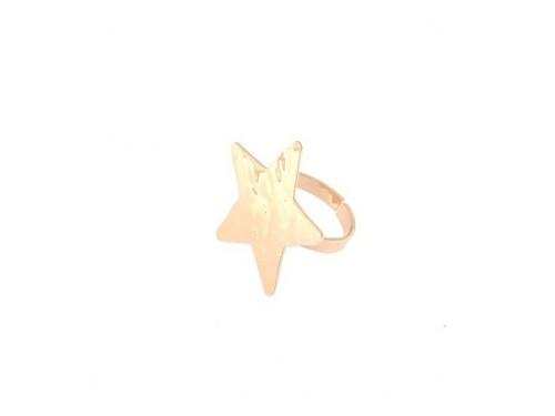 Anello Goldenfall Rue Des Mille con stella in argento rosa