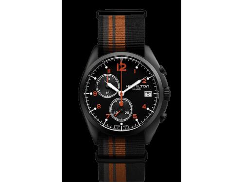 Hamilton orologio uomo Khaki Aviation Pilot Pioneer Chrono Quartz