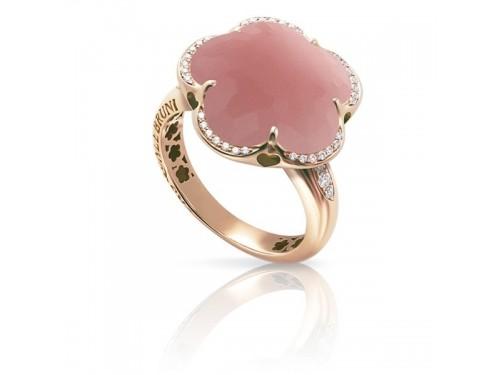 Anello Pasquale Bruni Bon Ton con calcedonio rosa e diamanti
