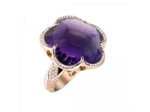 Anello Pasquale Bruni Bon Ton con ametista viola e diamanti