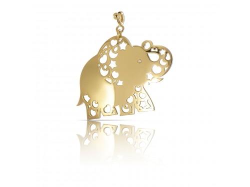 Ciondolo Pasquale Bruni Le Monde Elefante in oro giallo con diamante