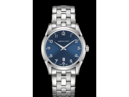 Hamilton orologio uomo Jazzmaster THINLINE QUARTZ quadrante blu