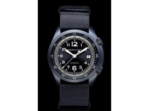 Hamilton orologio uomo Khaki Aviation PILOT PIONEER ALUMINIUM AUTO blu
