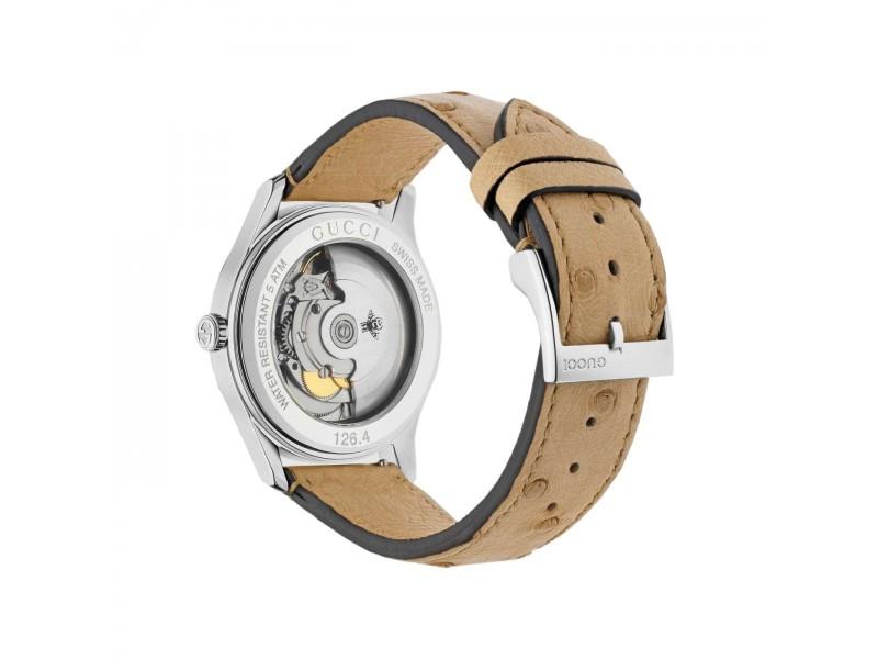 Orologio automatico Gucci G-Timeless con quadrante trasparente in madreperla