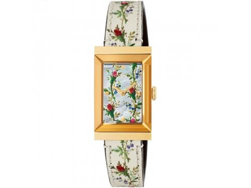 Orologio Donna al quarzo Gucci G-Frame con quadrante floreale