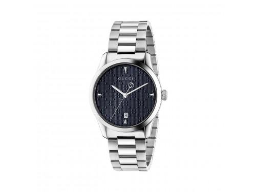 Orologio al quarzo Gucci G-Timeless in acciaio con quadrante blu