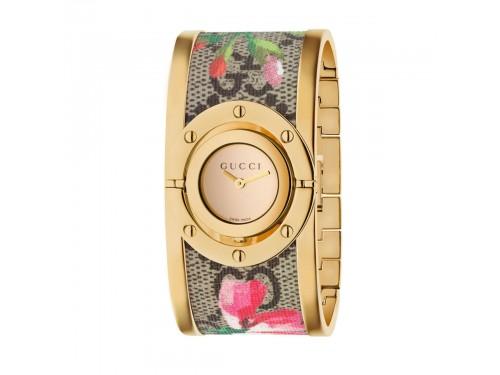 Orologio donna al quarzo Gucci Twirl Blooms 33mm con bracciale rigido