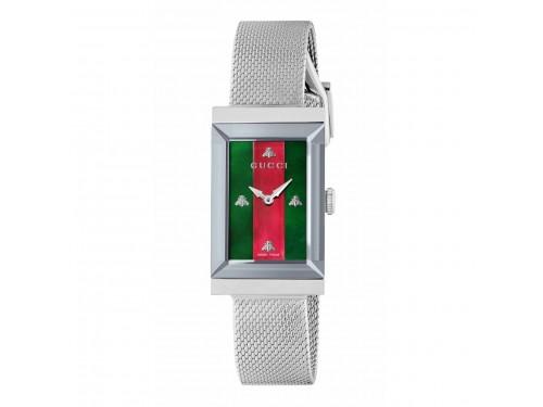 Orologio al quarzo Gucci G-Frame 21x34 mm con bracciale maglia milano