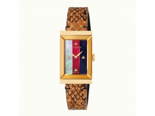 Orologio al quarzo Gucci G-Frame 21x34 mm quadrante in madreperla e cinturino in pelle Ayers