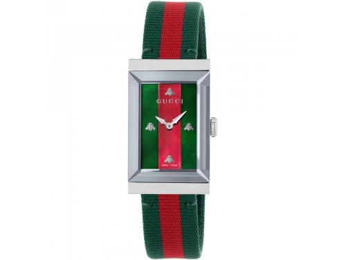 Orologio al quarzo Gucci G-Frame 21x34 mm quadrante in madreperla e cinturino nato