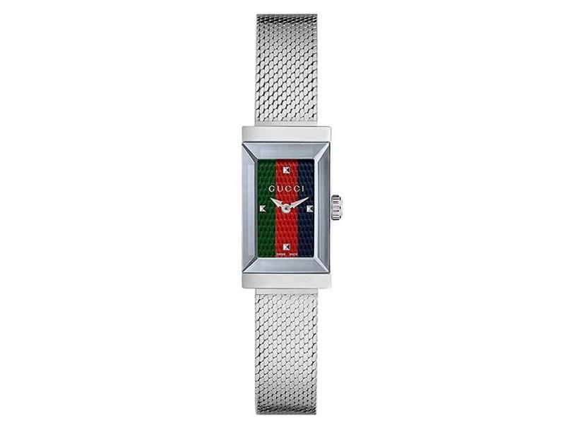Orologio al quarzo Gucci G-Frame cassa in accaio e cinturino milano