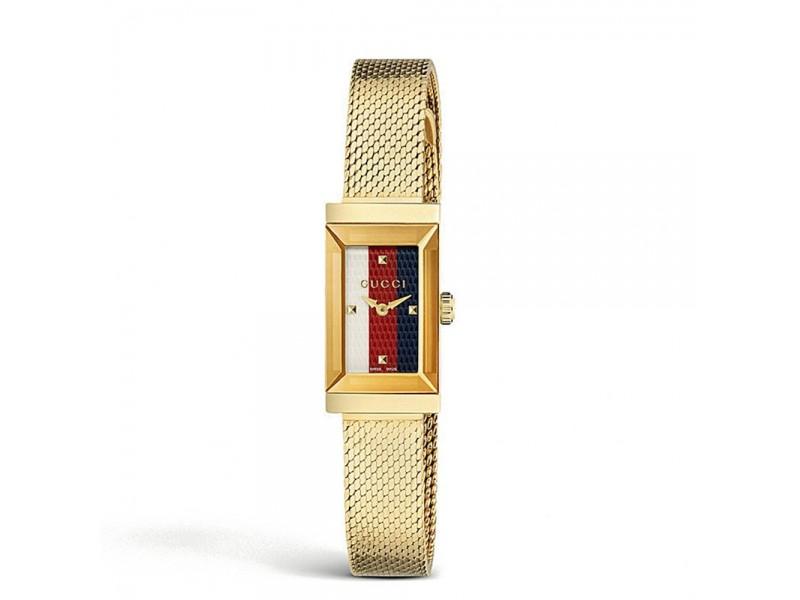 Orologio al quarzo Gucci G-Frame cassa in accaio PVD dorato e bracciale milano