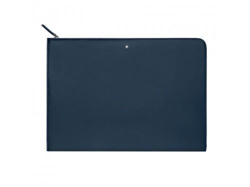 Portadocumenti Montblanc con cerniera Meisterstück in pelle blu
