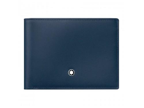 Portafoglio 6 scomparti Montblanc Meisterstück in pelle blu navy