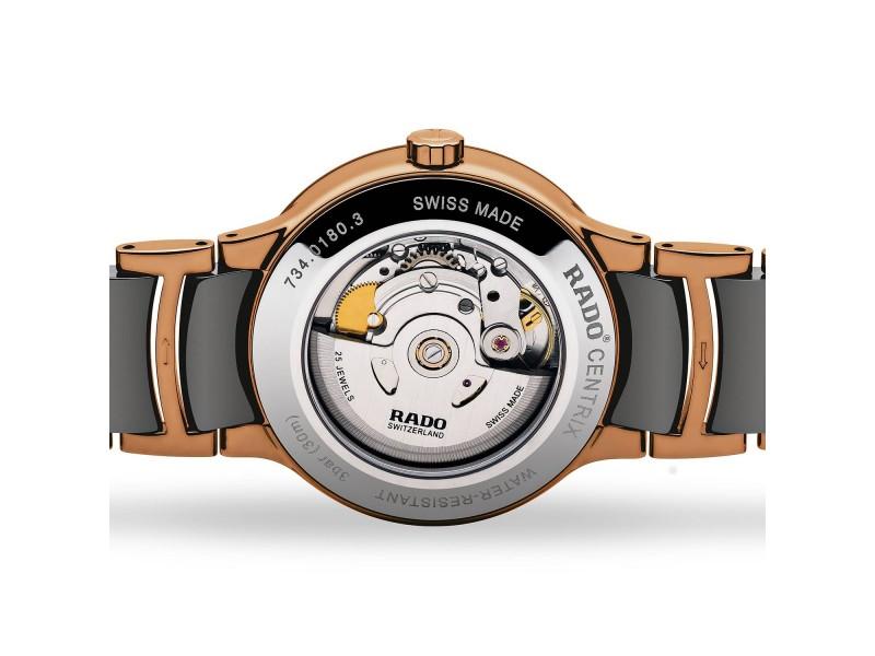 Orologio Automatico Rado Centrix in ceramica High Tech e Acciaio PVD oro