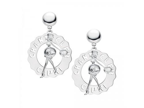 Orecchini Chantecler grandi Madame Clochette in argento