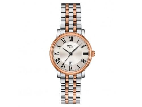 Orologio Tissot Carson Premium Lady con Quadrante Argento e Bracciale in Acciaio Pvd Oro Rosa