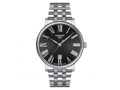 Orologio Tissot Carson Premium con Quadrante Nero e Bracciale in Acciaio