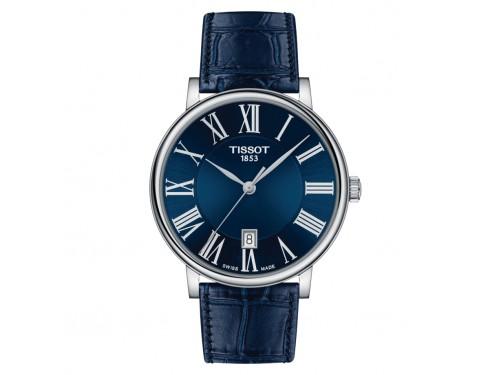 Orologio Tissot Carson Premium con Quadrante Blu e Cinturino in Pelle Blu