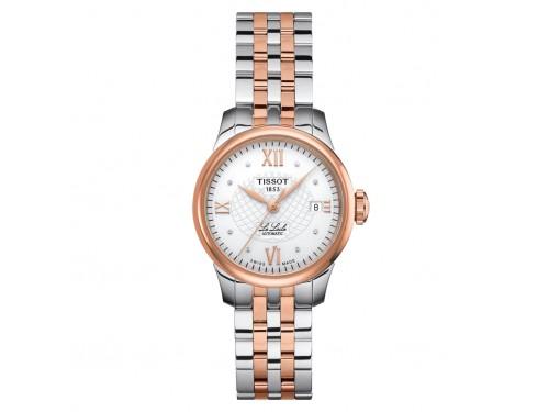 Orologio Tissot Le Locle Automatic Lady con Diamanti e Bracciale in Acciaio Pvd Oro Rosa
