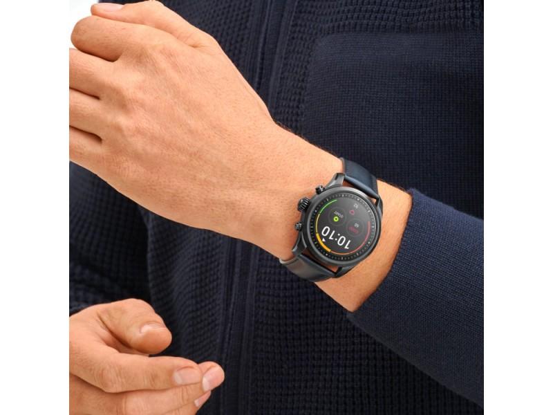 Smartwatch Montblanc Summit 2 Acciaio Nero e Cinturino in Pelle iOS e Android